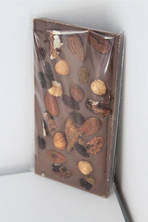 Tablette de Chocolat au Lait aux Fruits Sec