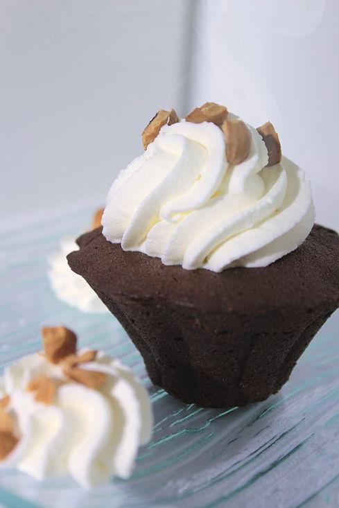 Gâteau coulant au chocolat praliné