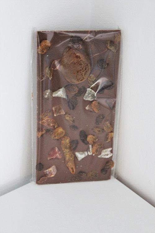 Tablette de Chocolat au Lait aux Fruits Confits