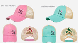Lazy J's Tackle girl hats