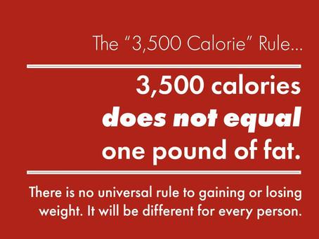 3500 Calorie Myth