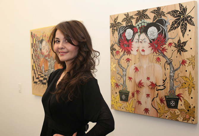 Croatian Media writes about Renata's paintings @ Grand Opening of Klein Sun Gallery