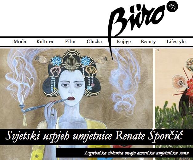 Büro 24/7 covers Renata's debut at ELI KLEIN FINE ART