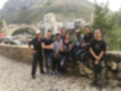 Awesomness crew in Mostar, Bosnia