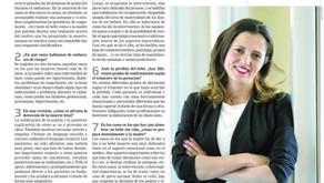 """Entrevista en el suplemento """"A Tu Salud"""" del periódico La Razón en relación al manejo emoc"""