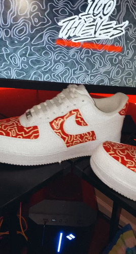 """""""Geography"""" Custom Painted Air Force 1's"""