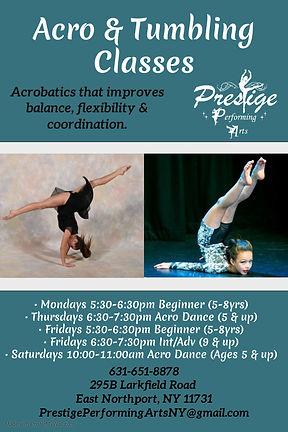 Copy of Dance Tumble Gymnastics poster p