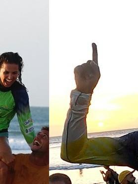 Chloé Calmon e Carlos Bahia se sagram campeões brasileiros de longboard