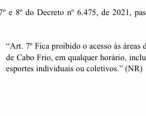 Prefeitura de Cabo Frio decreta proibição do surf na cidade