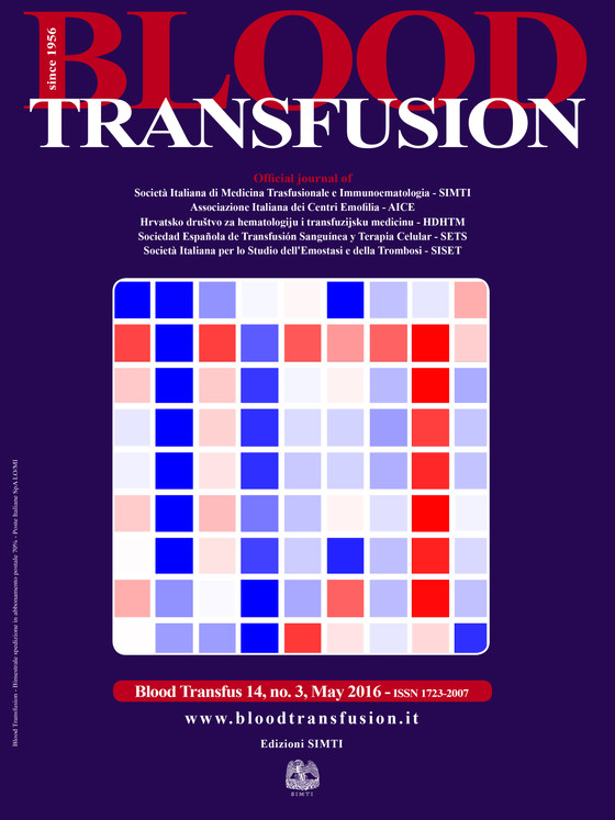 Blood Transfusion - Cover January 2016!