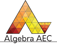 Algebra main logo 3 cubed attached with