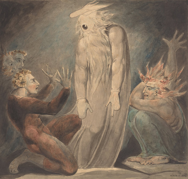 the ghost of eyemuel appearing to saul