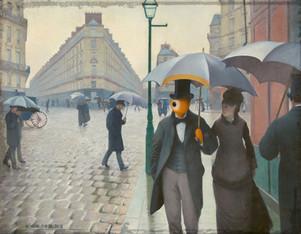 paris street reyeny day