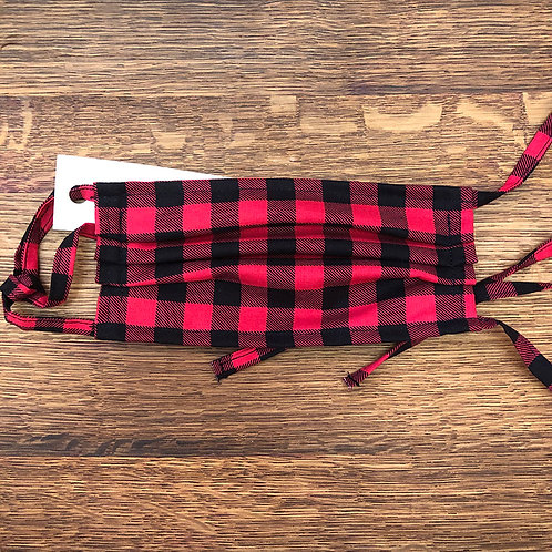 "Red ""Lumberjack"" Plaid Face Mask"