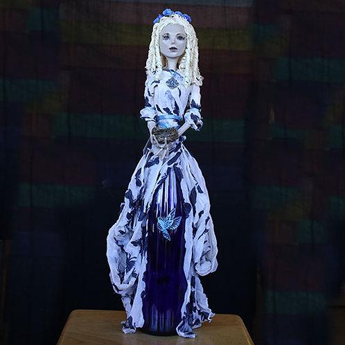 Blue & White Bottle Lady