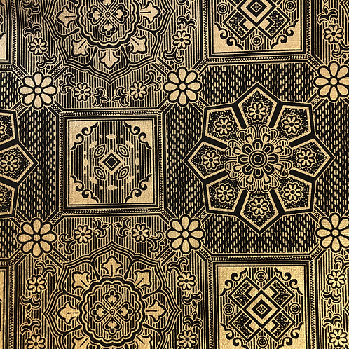 Gold & Black 8.5x11 Paper