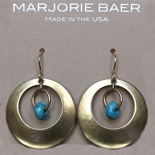 Double Hoop Turquoise Earrings