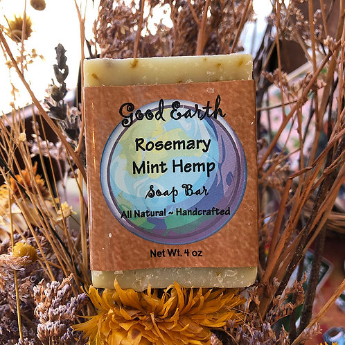 Rosemary Mint Hemp Soap