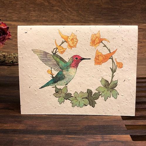 Plantable Hummingbird Card