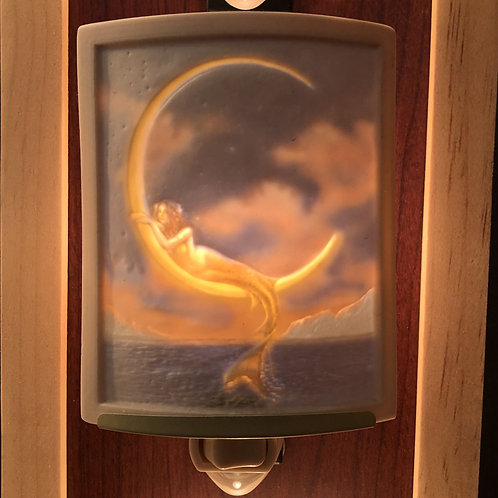 Mermaid in the Moon Porcelain Nightlight