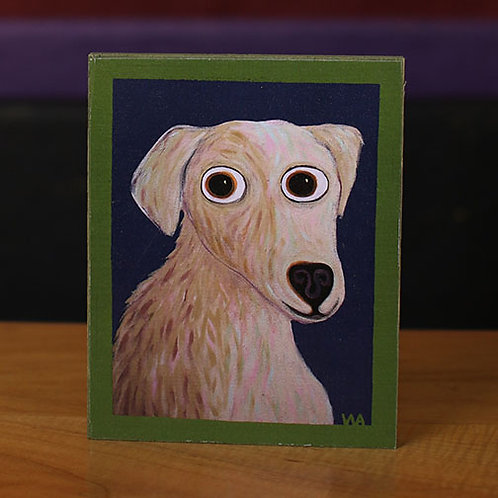 """Nate"" Dog Wooden Block"