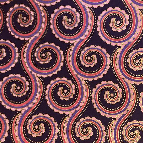 Purple Swirl 8.5x11 Paper