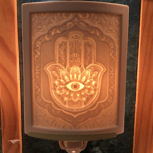 Hamsa Porcelain Nightlight