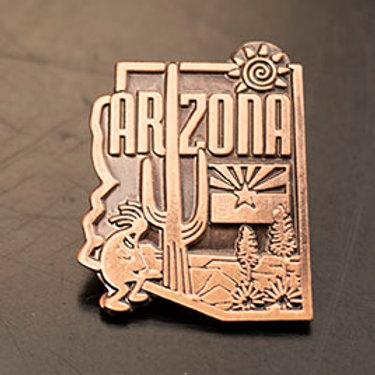 AZ Copper Enamel Pin