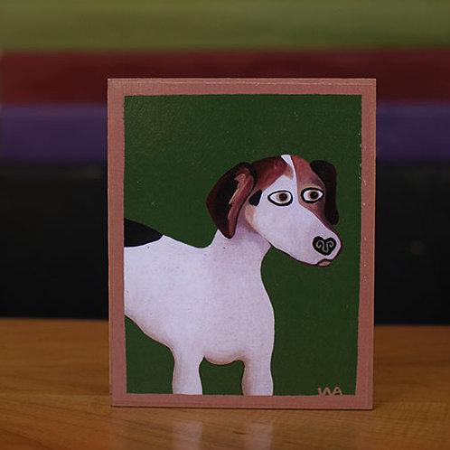 Beagle Dog Wooden Block
