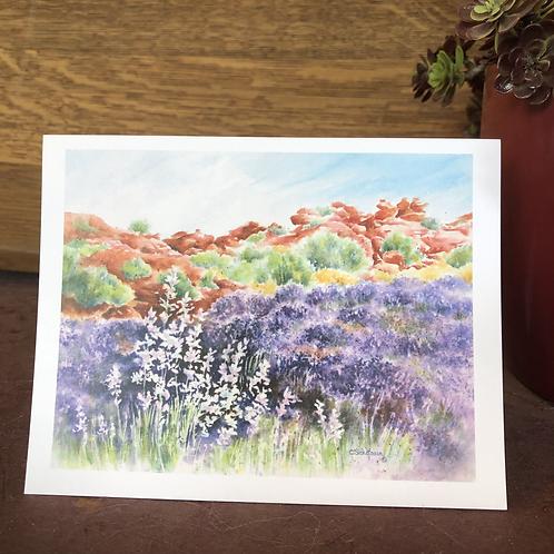 Red Rock Lavender Field