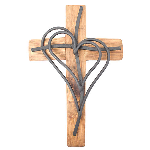 Double Heart Cross