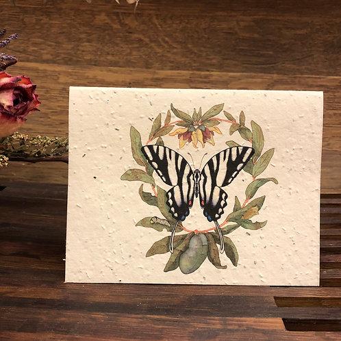 Plantable Zebra Swallowtail Card