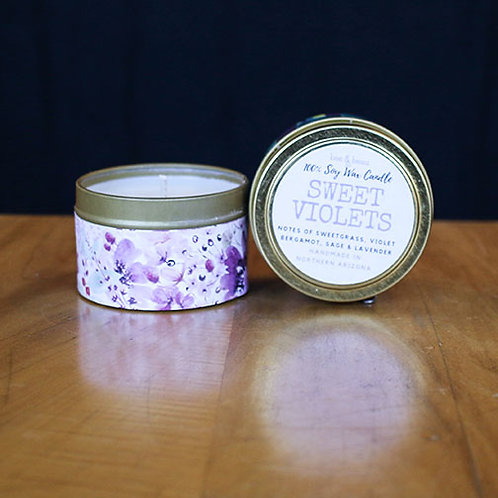 Sweet Violets Soy Candles