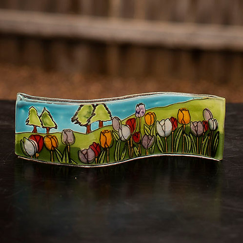 Tulip Field Wavy Picture Frame