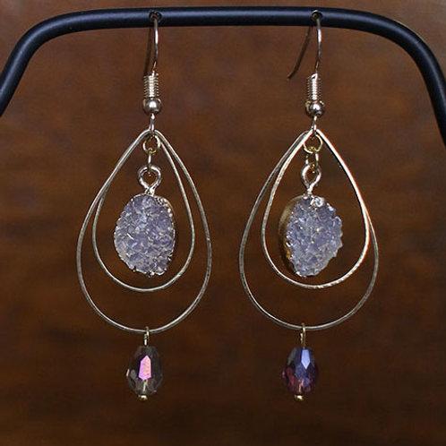 Double Hoop Druzy Earrings