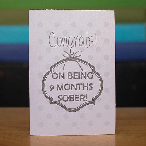 9 Months Sober