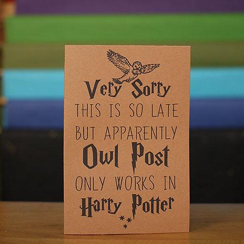 Owl Post Belated Birthday