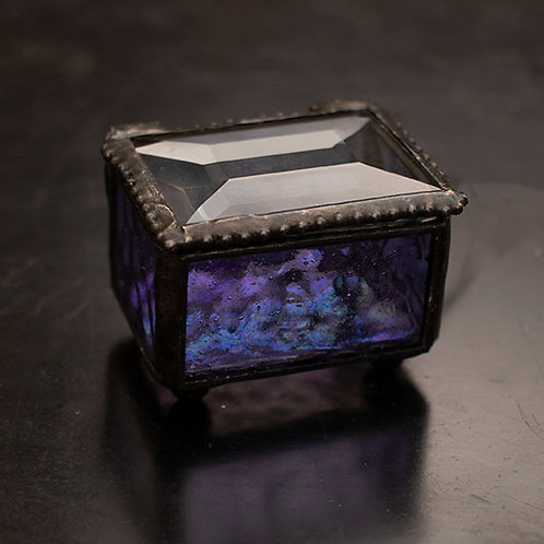 Small Glass Keepsake Box (More Colors Available)