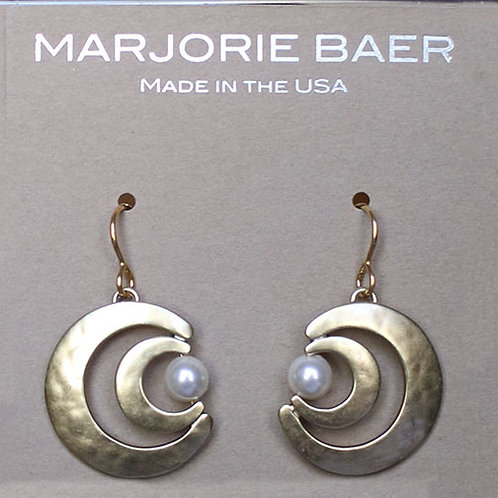 Double Crescent Pearl Earrings