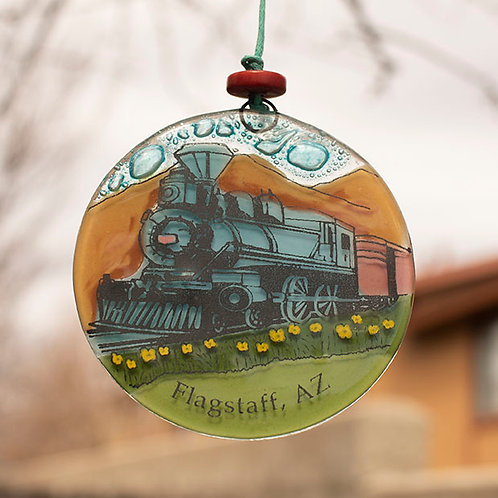 Flagstaff Train Ornament