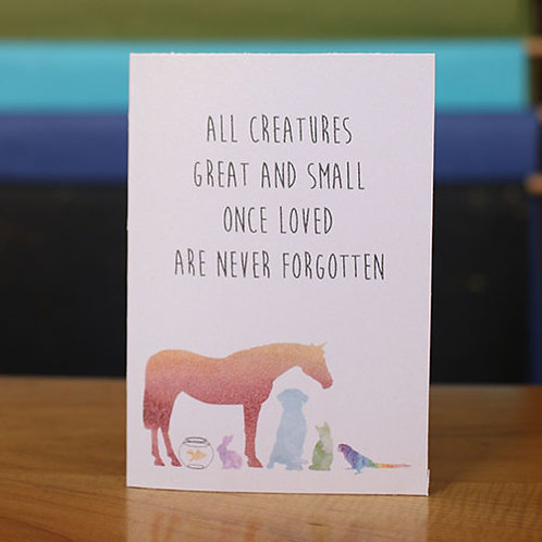 Creatures Great & Small Pet Sympathy