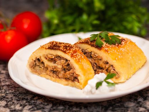 Potato roll with turkey