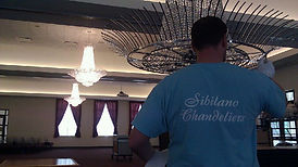 Chandelier restoration and installation in the Chicago area