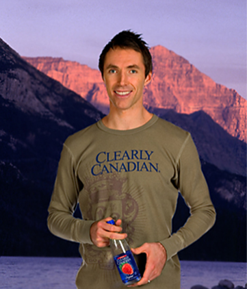 Steve Nash for Clearly Canadian