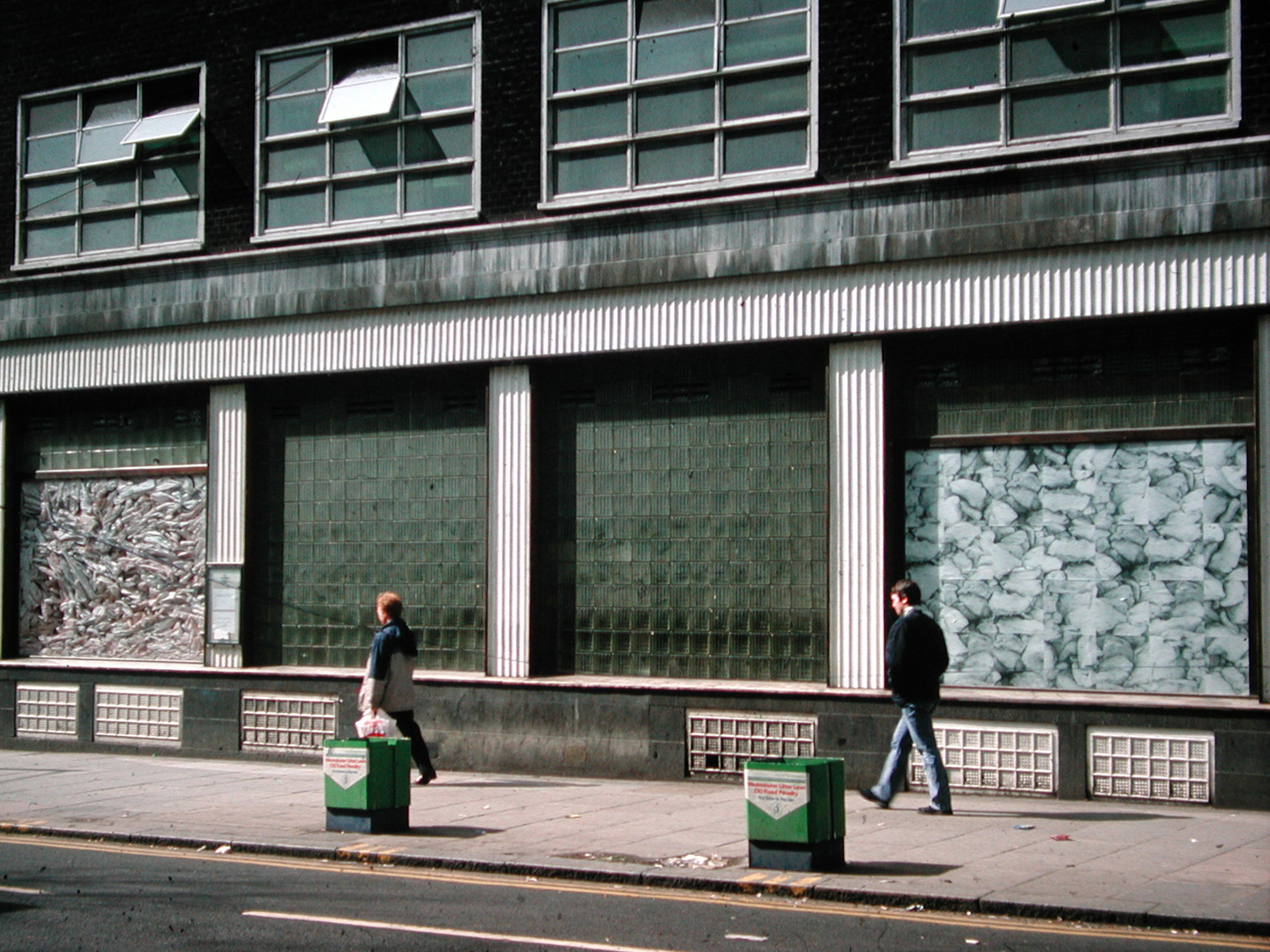 Temporary installation for The Windows at Central St Martin's College of Art and Design, 109 Charing Cross Road, London. 1990