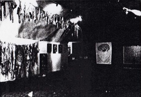 General installation view of The Nuclear Family in a four-person show at Brixton Art Gallery with Susan Egan, Rosemary MacGoldrick and Georgina Walsh, February 1985.