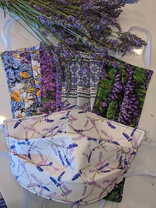 Lavender theme Face Masks