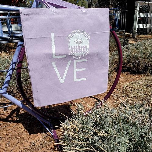 Lavender cotton canvas tote