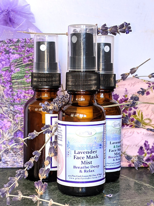 Breathing Lavender Air Face Mask Spray