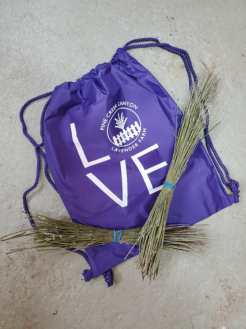 LOVE draw string backpack